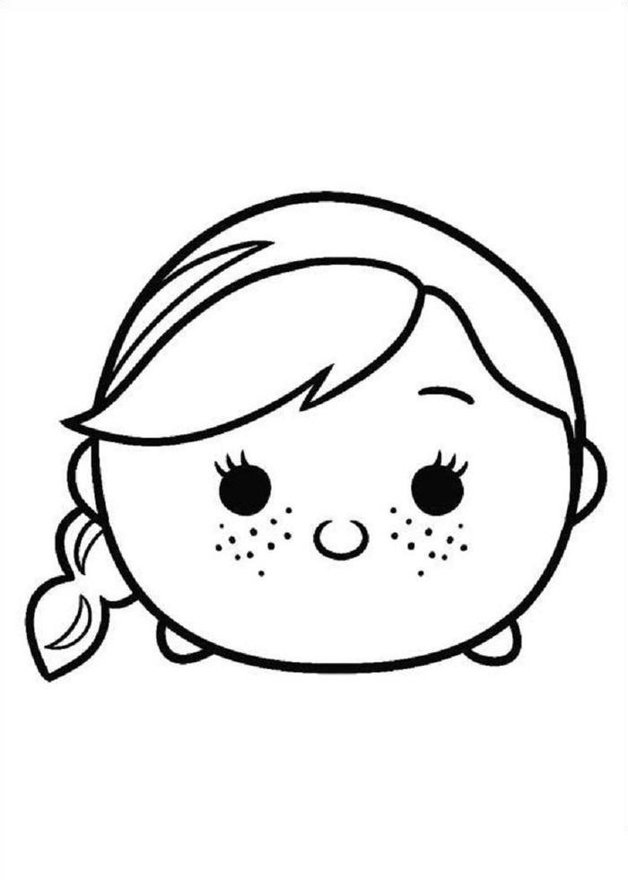 Tsum Tsum Coloring Pages Anna