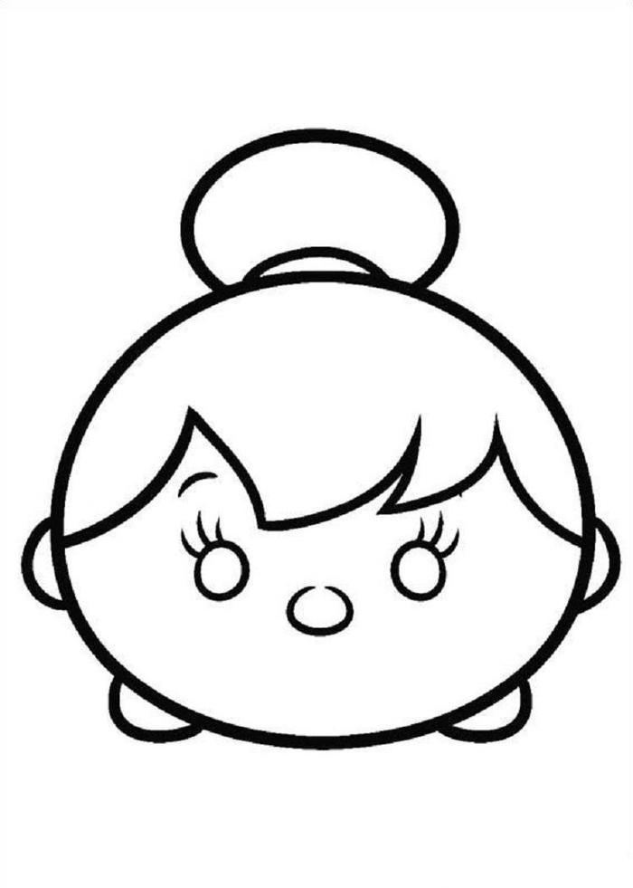 Tsum Tsum Coloring Pages Tinkerbell