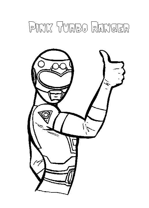 Turbo Pink Power Rangers Coloring Pages
