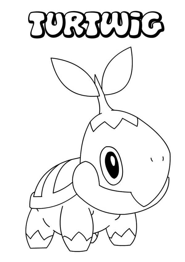 Turiwig Legendary Pokemon Coloring Pages