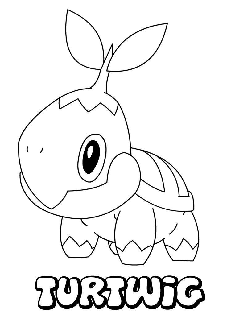Turiwig Pokemon Color Pages Colouring Pages