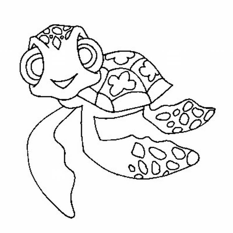 Turtle Coloring Pages Squirt The Turtle