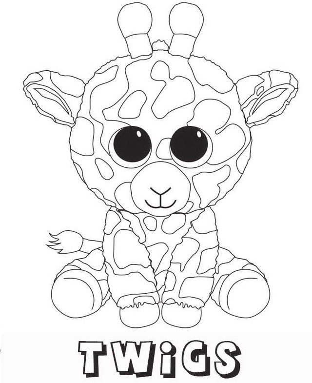 Twigs Beanie Boo Coloring Sheets Coloring Ideas