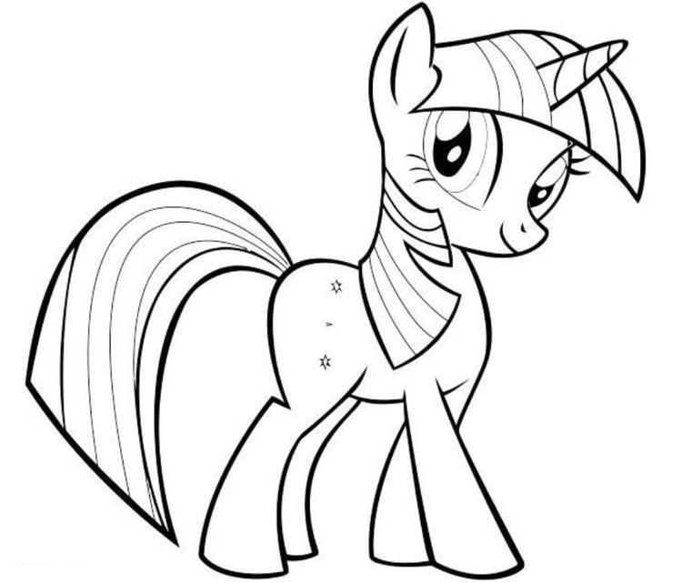 Twilight Sparkle My Little Pony Friendship Is Magic Coloring Pages