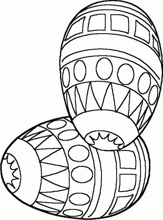 Two Easter Coloring Pages Eggs