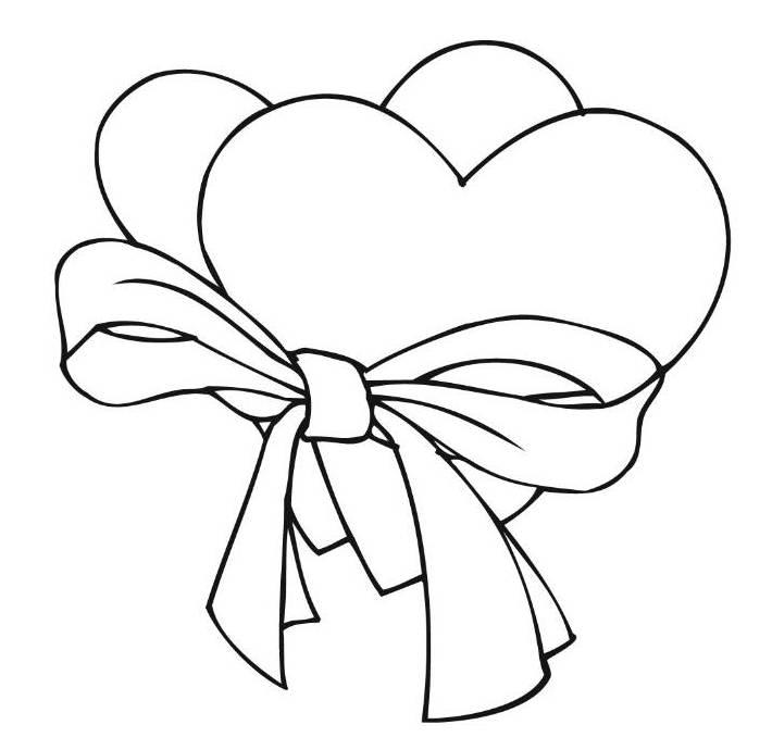 Two Loving Hearts Coloring Page