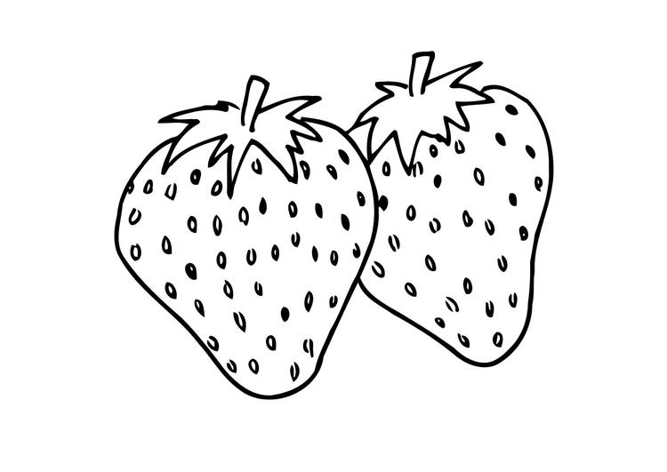 Two Strawberry Coloring Pages