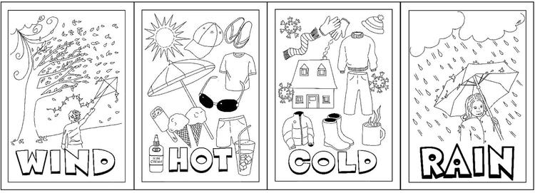 Types Of Weather Coloring Sheet Printable