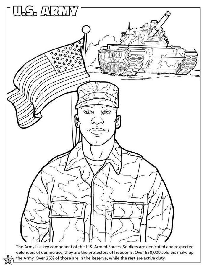 U.s Army Coloring Pages