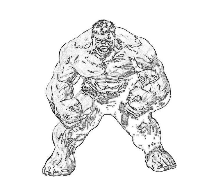 Ultimate Marvel Coloring Pages Hulk