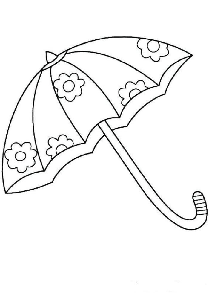 Umbrella Coloring Pages Free Printable