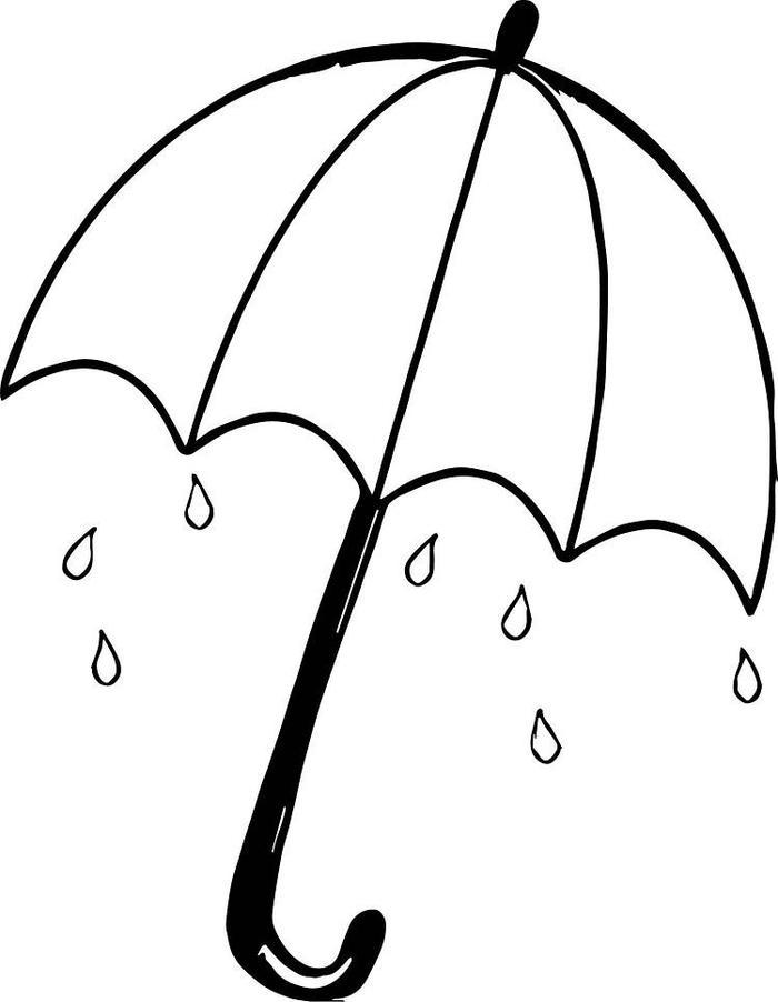 Umbrella For Kids Coloring Pages