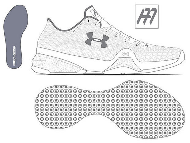 Under Armour Shoe Design And Sketch Drawing Page