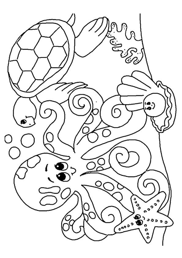 Under The Sea Animals Coloring Pages