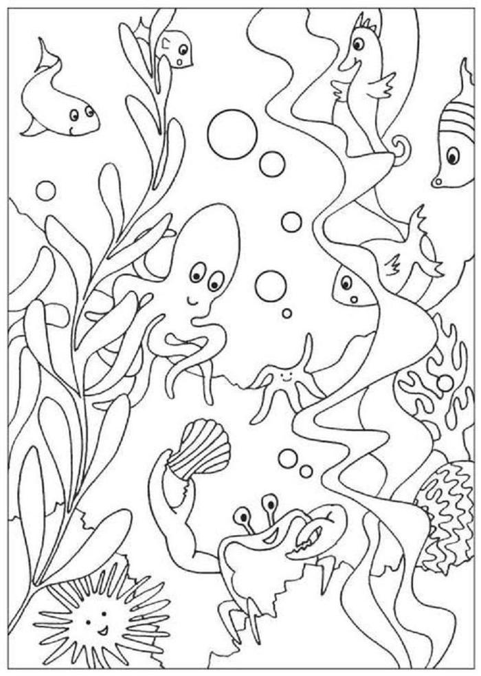 Under The Sea Nature Coloring Pages