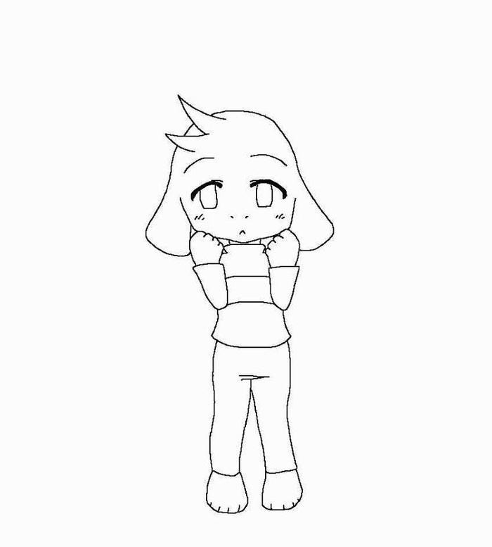 Undertale Asriel Coloring Pages