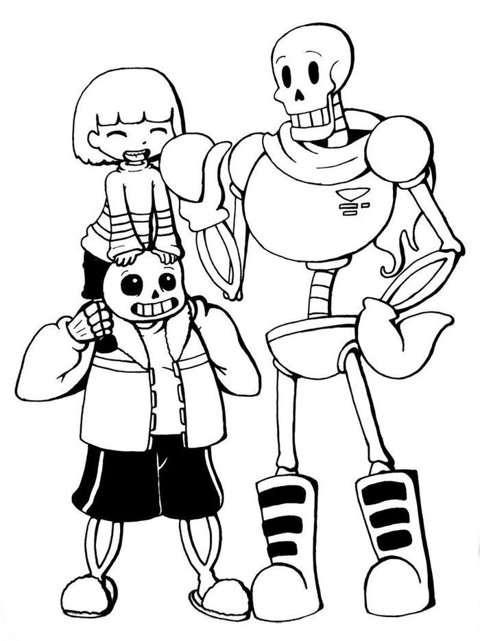 Undertale Coloring Pages Free