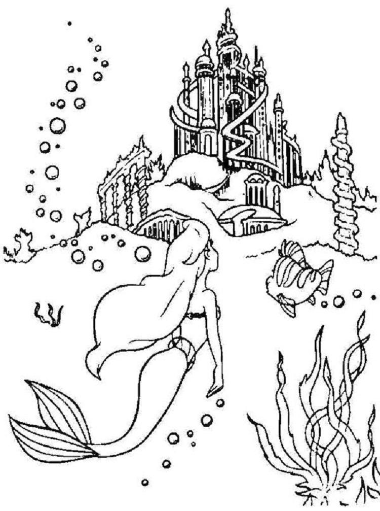 Underwater Castle Coloring Pages