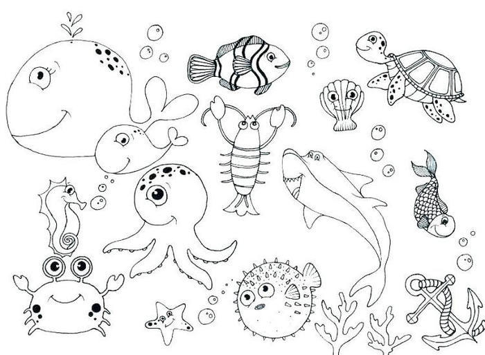 Underwater Coloring Pages For Kids