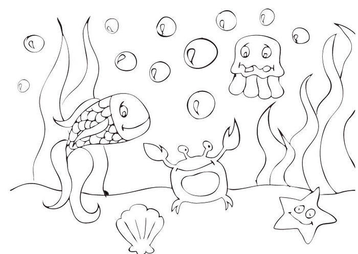 Underwater Coloring Pages For Preschool