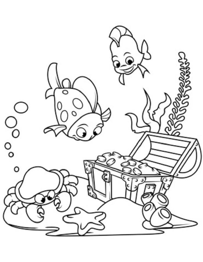 Underwater Treasure Coloring Pages