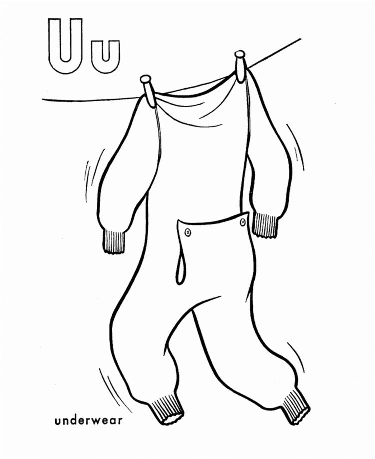Underwear Alphabet Coloring Pages Free