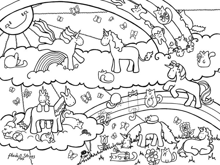 Unicorn Coloring Pages For Teenagers Difficult Fairy