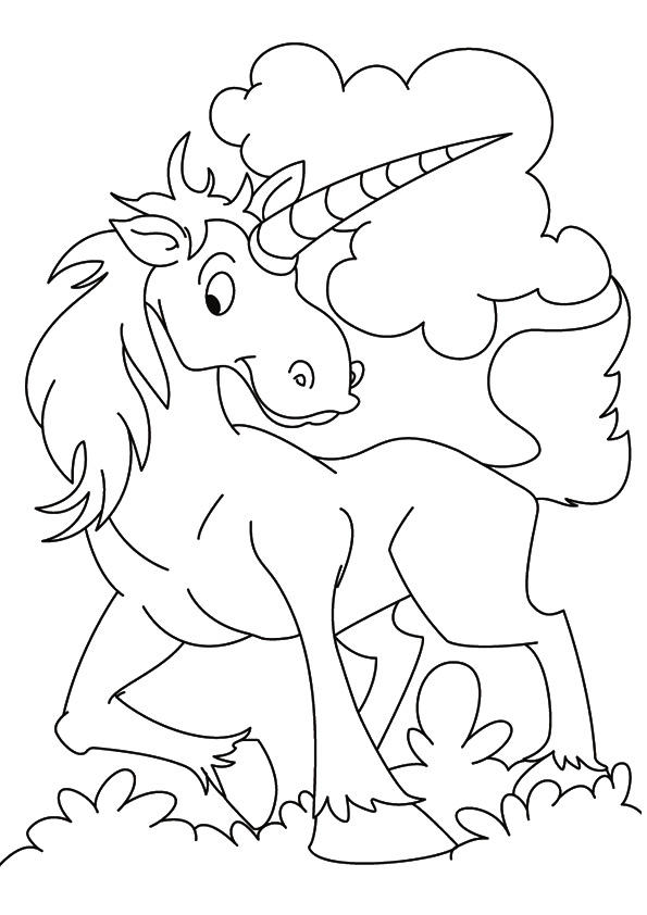 Unicorn Coloring Pages Printable For Kids