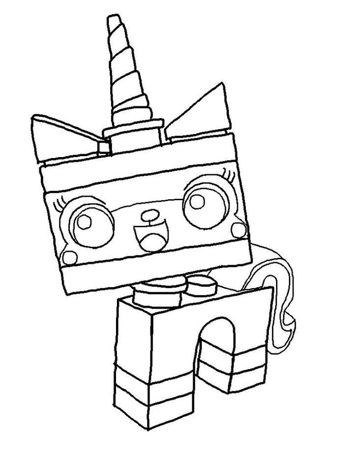 Unicorn Unikitty Coloring Pages