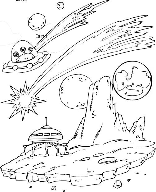 Unidentified Flying Object Ufo Coloring Page