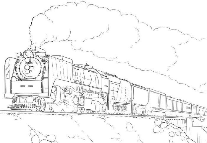 Union Pacific Train Coloring Pages
