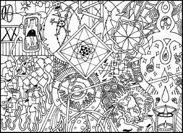 Unique Abstract Coloring Pages