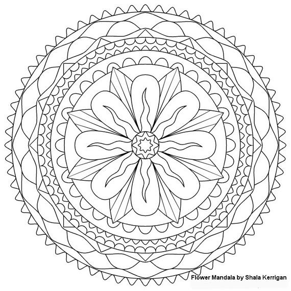 Unique Spring Adult Flower Coloring Pages Printable
