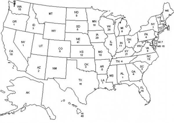 United States Of America Maps Coloring Pages