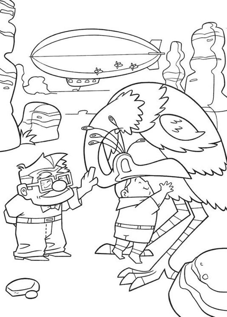 Up Coloring Pages Free Printable