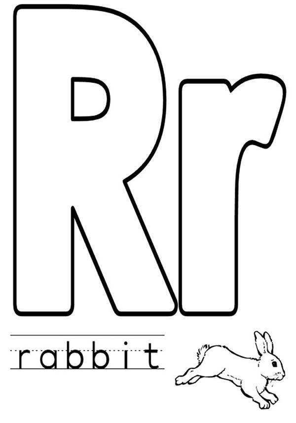 Upper Case And Lower Case Letter R Coloring Page For Preschool Kids