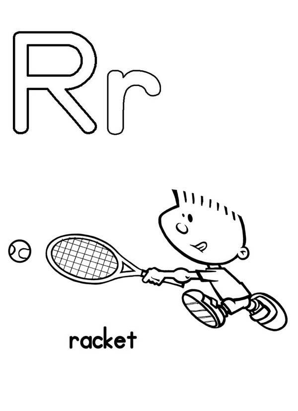 Upper Case And Lower Case Letter R Coloring Page