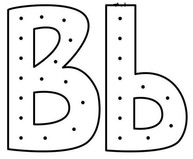 Uppercase And Lowercase Letter B Coloring Page