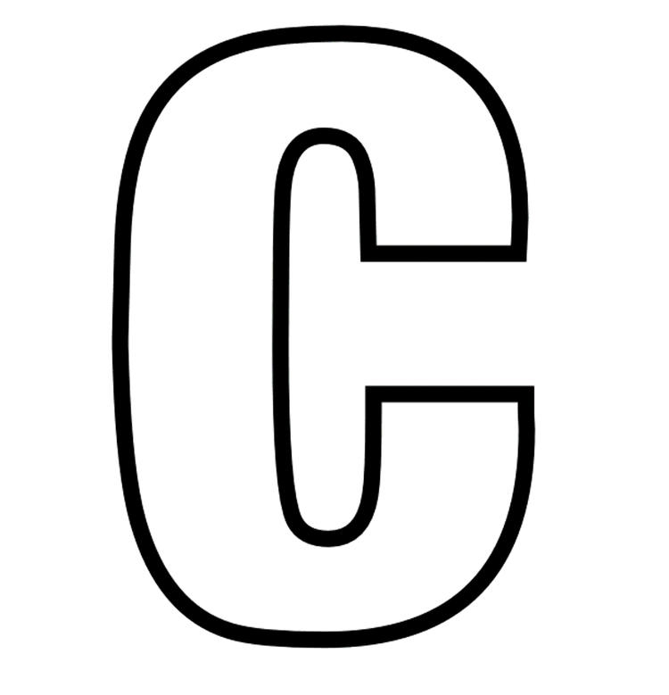 Uppercase C Coloring Pages Alphabet