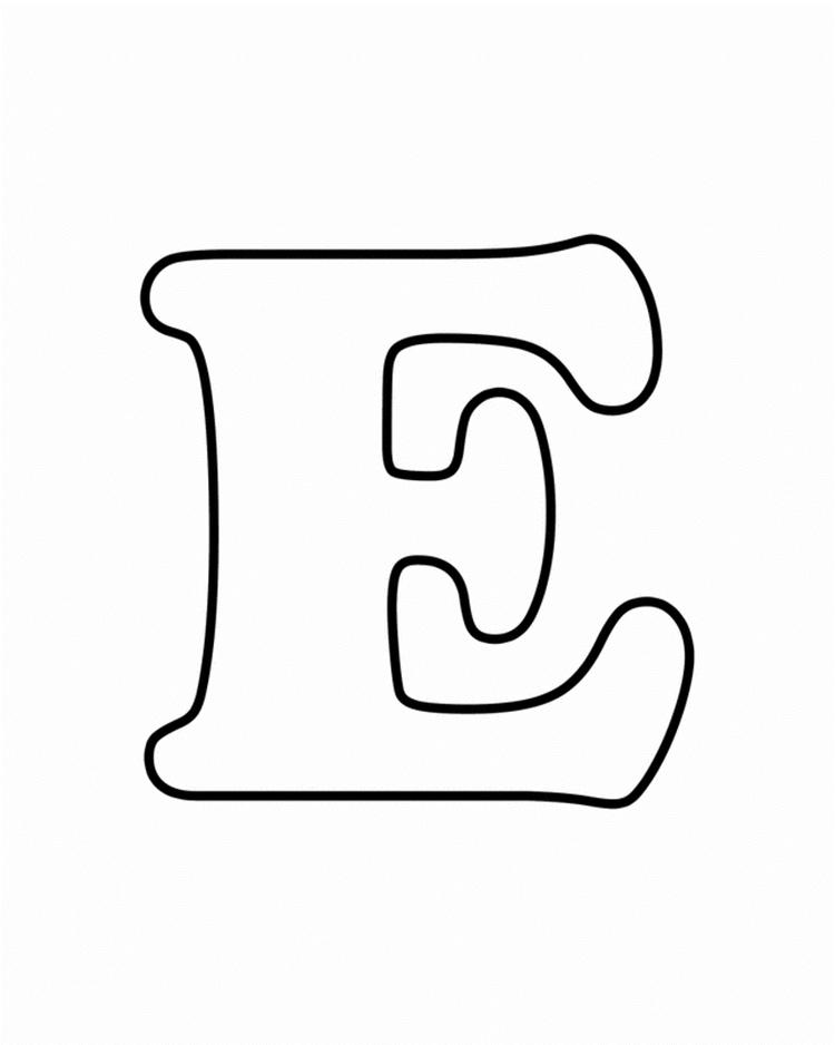 Uppercase E Alphabet Coloring Pages Free Printable