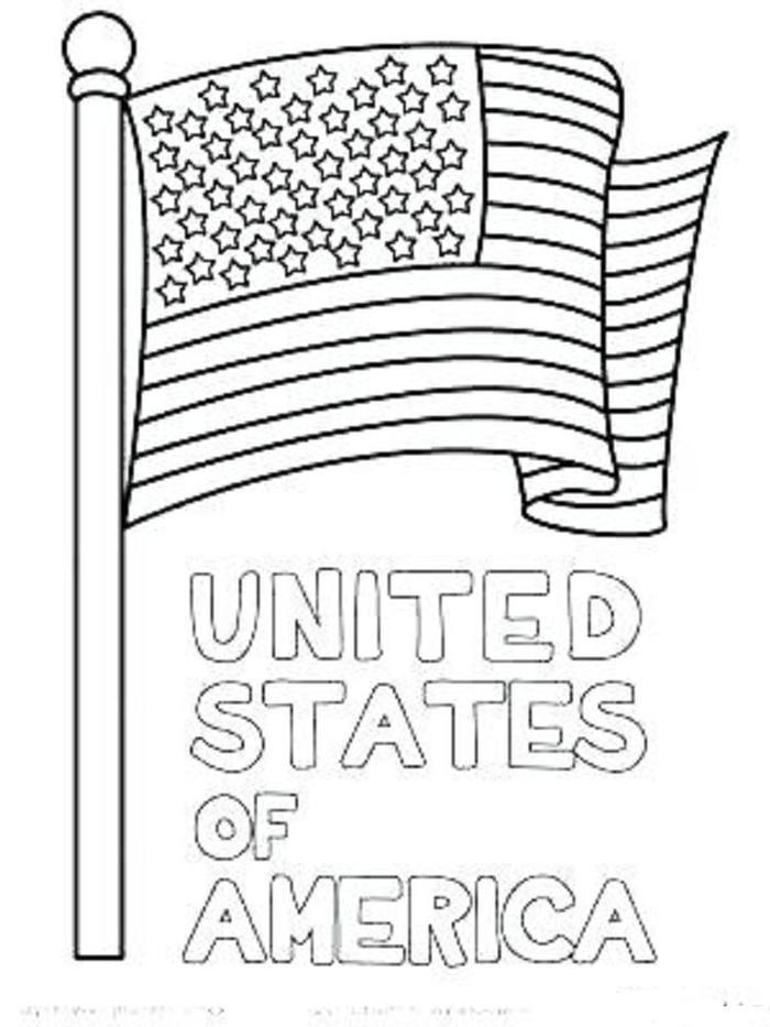 Us American Flag Coloring Pages