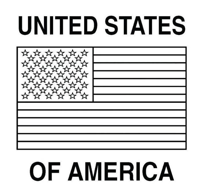 Us Flag Coloring Pages For Kindergarten