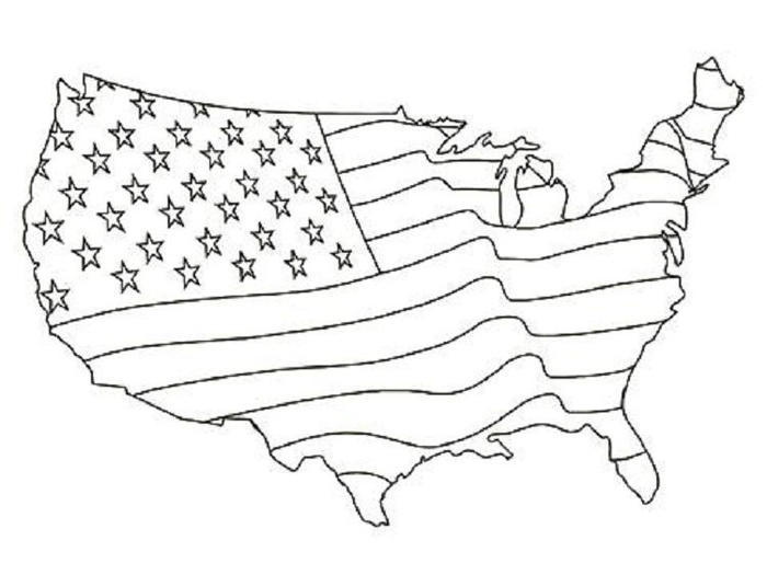 Us Flag Coloring Pages To Print