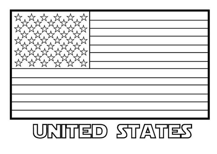 Us Flag Stars And Stripe Coloring Pages
