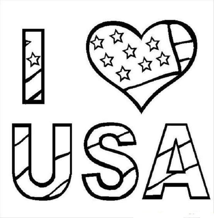 Usa Coloring Pages Printable 1
