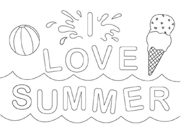 Vacation Coloring Pages For Preschool