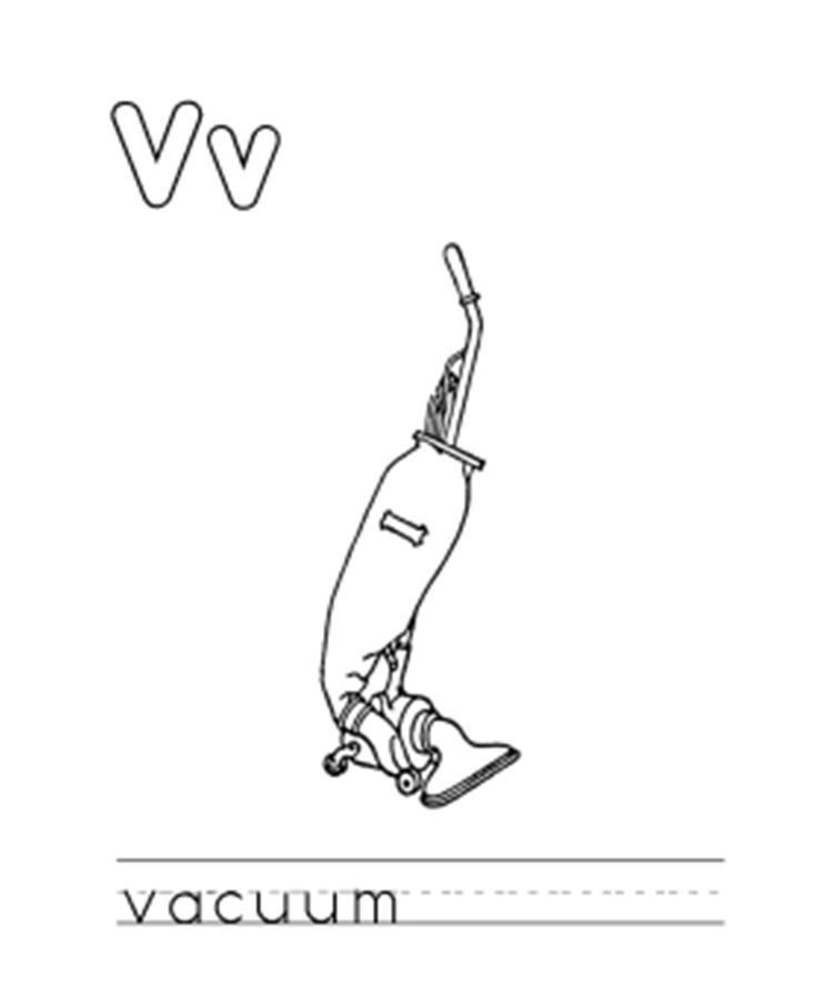 Vacuum Alphabet Coloring Pages