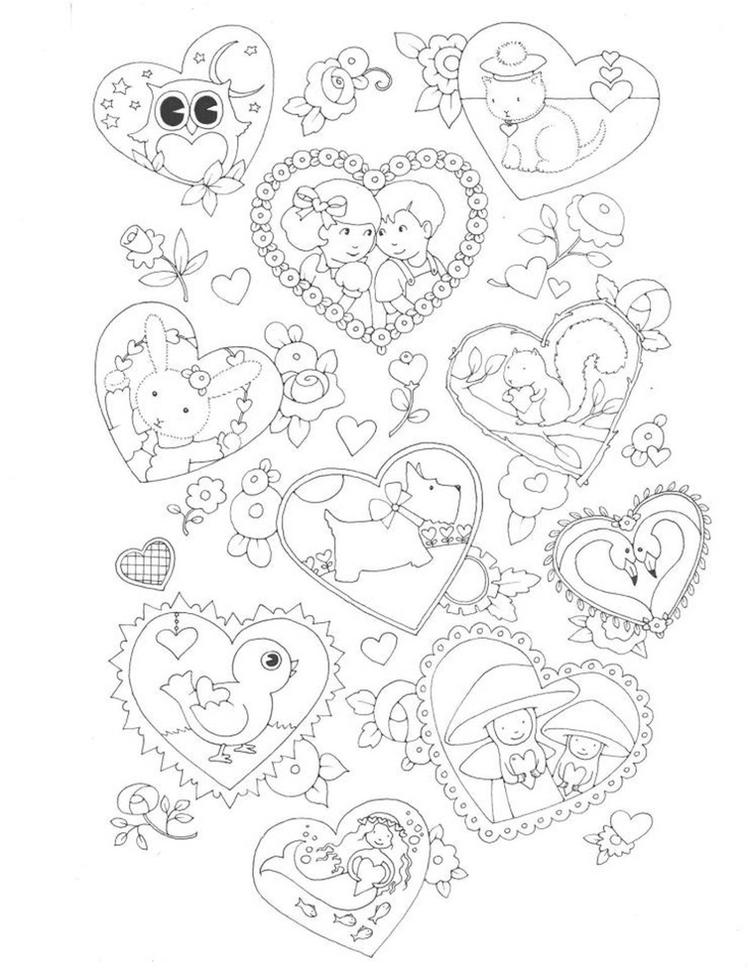 Valentine Coloring Page For Kids