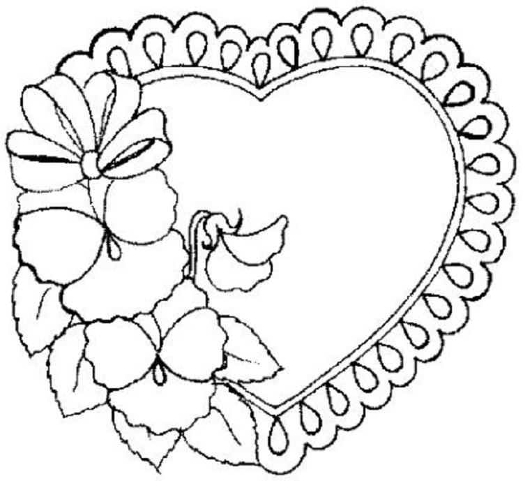 Valentine Flower Coloring Pages