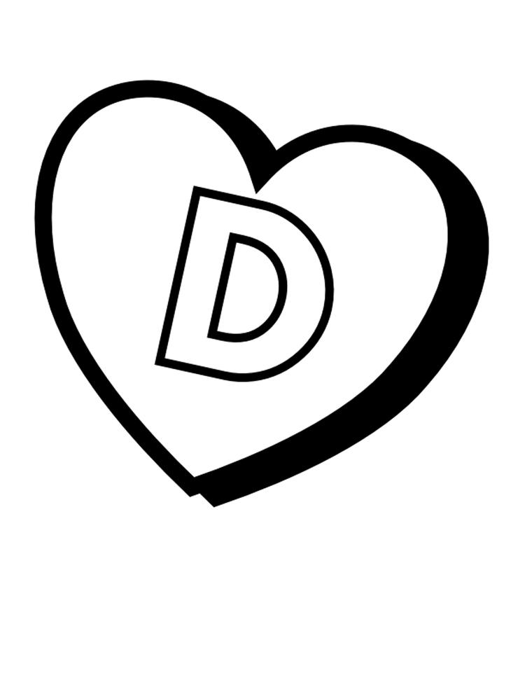 Valentines D Printable Alphabet Coloring Pages